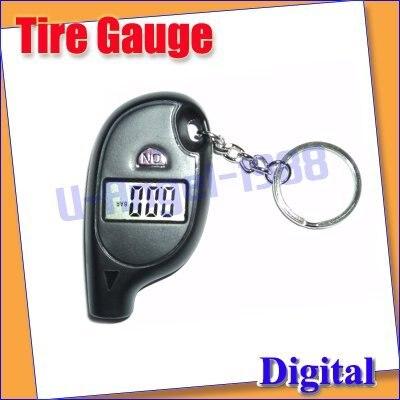 5 pcs/lot MINI Car Tire Pressure Gauge Digital LCD Keychain Tyre+ Free shipping