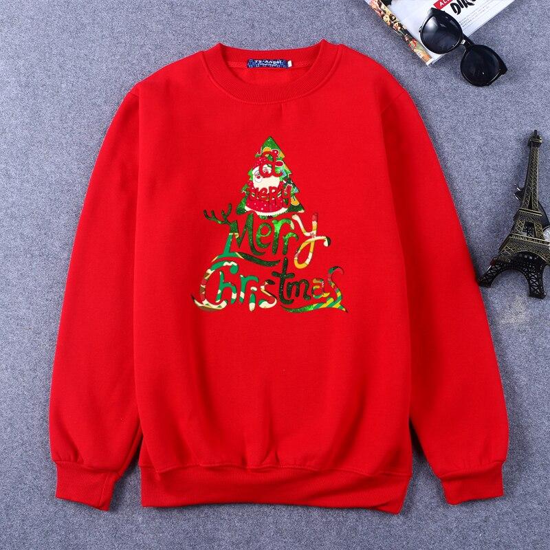 Green Red Sweatshirt 2016 Christmas Tree Printed Hoodie Men Autumn Winter Long Sleeve Fleece Pullover Jumper Plus Size RW-C10067