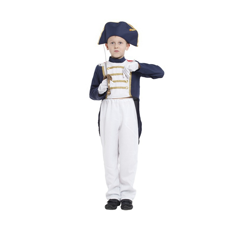 Kids Costumes & Accessories Little Napoleon Costume For Boys Handsome Holiday Party Cosplay Kids Clothes Carnaval Volwassen Kostuums Tops/pants/hat/ Gloves Good For Antipyretic And Throat Soother Costumes & Accessories