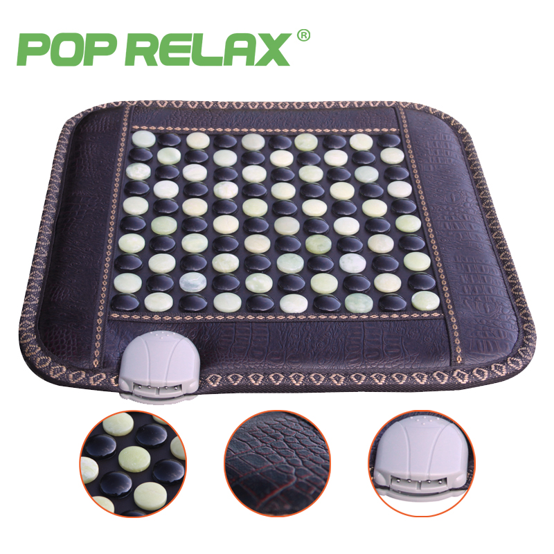 POP RELAX healthy mattress tourmaline jade germanium ion far infrared heating therapy stone massage mat thermal sitting mattress pop relax negative ion magnetic therapy tourmaline mat pr c06a 55x120cm ce