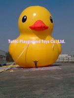 6 м Высокое гигантские надувные рекламы плавающей желтая утка