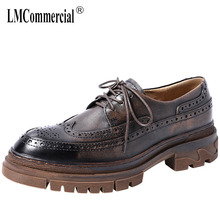bullock shoes men High Quality Genuine Leather Shoes Men,Lace-Up Business Men Shoes,Men Dress British retro cowhide spring