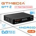 FREESAT gtmedia GTT2 Android 6 0 ТВ-бокс DVB-T/T2/кабель/ISDBT Amlogic S905D 2 Гб ram 8 Гб rom freesat + 1 год Бесплатный CCcam подарок