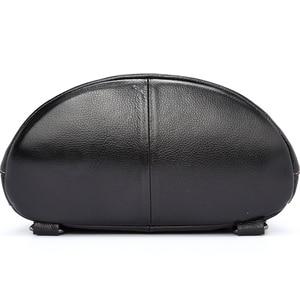 Image 4 - Zency 100% Genuine Leather Fashion Women Backpack Preppy Style Girls Schoolbag Black Holiday Knapsack Lady Casual Travel Bag