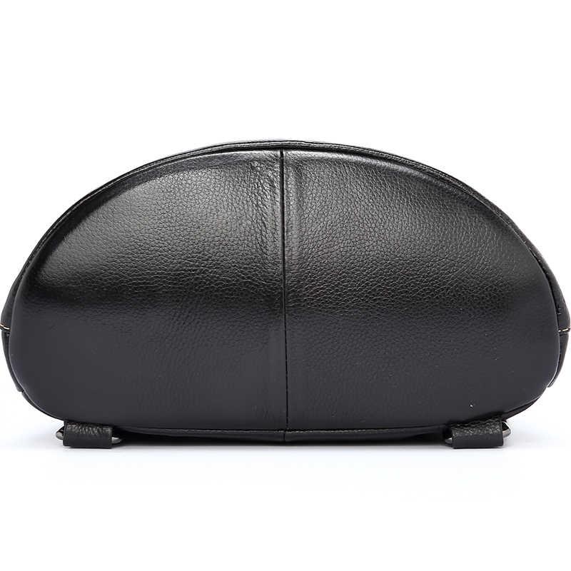 Zency 100%, Модный женский рюкзак из натуральной кожи, элегантный дизайн, Женский школьный ранец, черный праздничный ранец, Женская Повседневная дорожная сумка