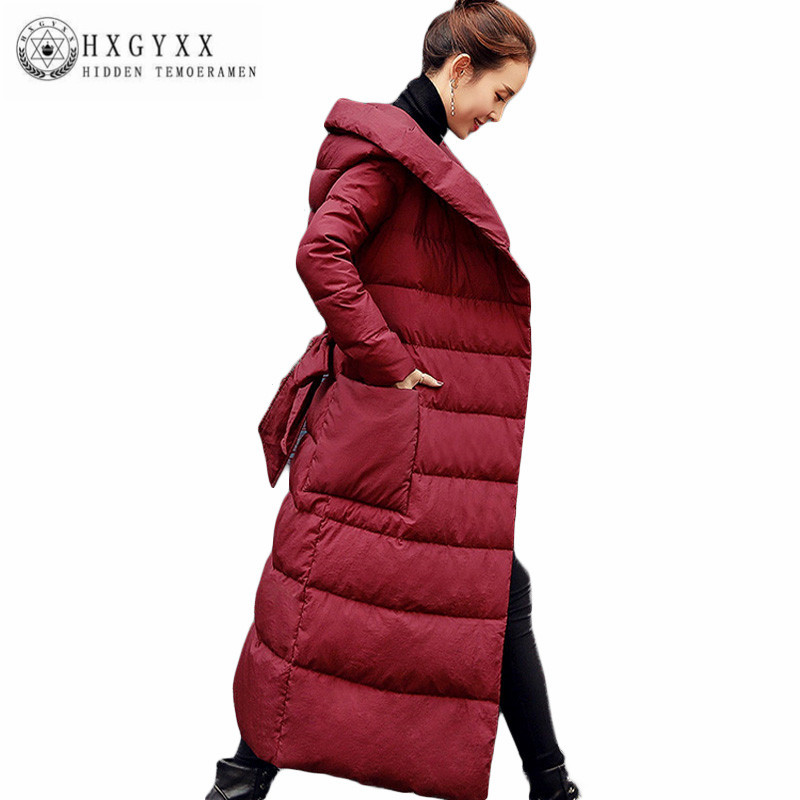 Women Winter Coat New High-quality Hooded White Duck Down Jacket Fashion Long Leisure Coat Large size Thick Down Jacket AA323 high quality real fur female winter in the new middle aged down jacket women white duck down sundae feather thick coat l 5xl