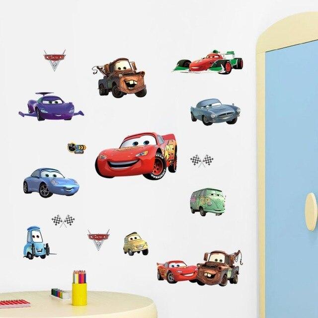 3D Cars 2 World Grand Prix Cartoon Art Children Living room wall ...