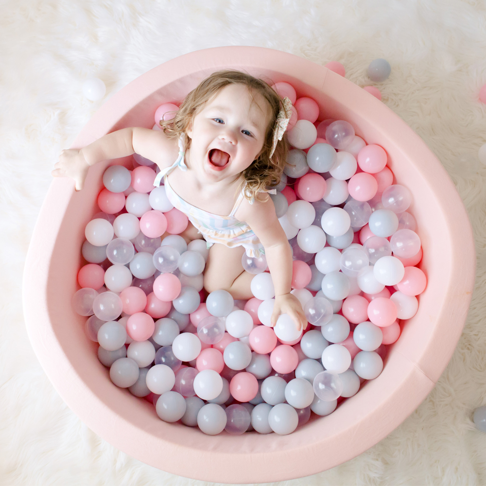 Baby Ball Pool - INS Hot Infant Sponge Fencing Playpen Soft Round Kiddie Balls Pit Nursery Play Toy Gift for Kids Children Room