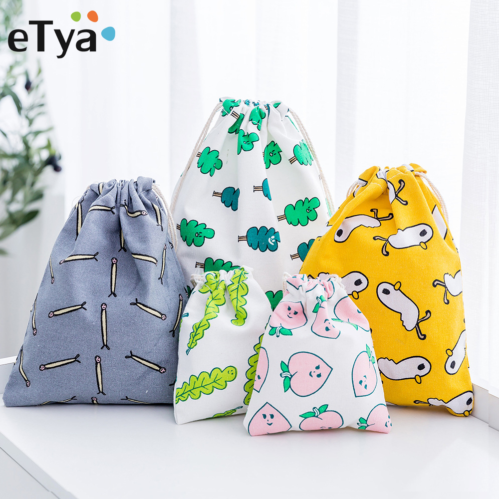 ETya Drawstring Bag Travel Portable Clothes Shoes Packing Organizers Bags Kids Dolls Toys Package Home Storage Pouch Gift Bag