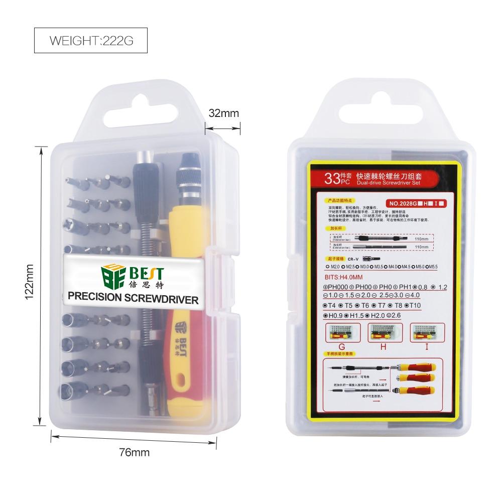 33 in 1 Set di cacciaviti intercambiabili Kit di cacciaviti magnetici - Utensili manuali - Fotografia 6