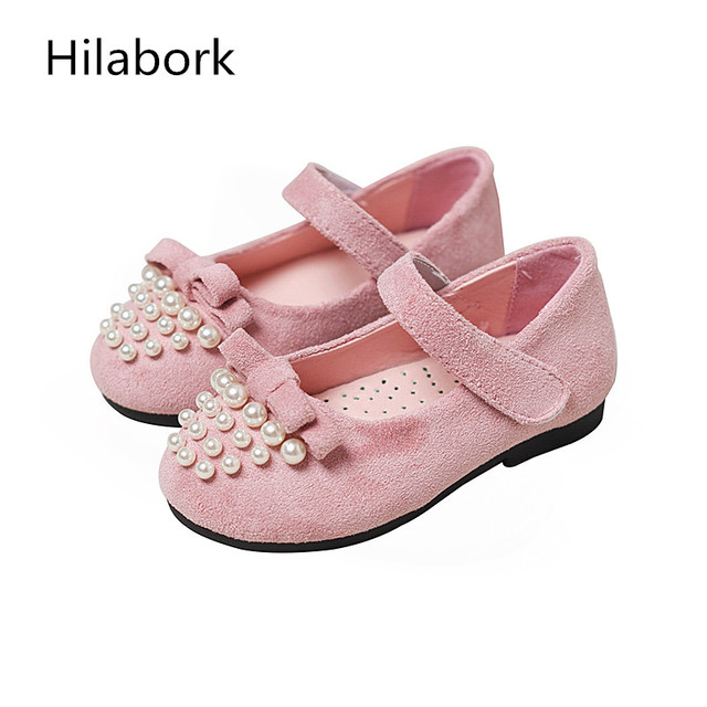 2017 spring new children's shoes girls shallow mouth soft bottom shoes Korean bowknot baby flat soft dough princess shoes
