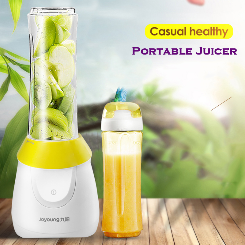 New Joyoung Household Outdoor Portable Juicer Double Cup Food Grade ABS Material Blender Multifunction Juice Machine Juice maker цены