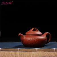 JIA-GUI LUO 120ML Purple Clay yixing  teapot  traditional chinese tea set  oolong tea Portable travel tea set H036