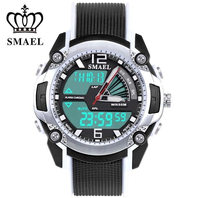 305da1351ded Smael analoge reloj led digital reloj deportivo para niños a prueba de agua Niños  Reloj de