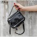 Ellacey 2017 Women Messenger Bags Pandora Box Sling Rivet Handbags Genuine Leather Chains Women Bags Mini Sheepskin Shoulder Bag
