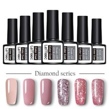 LEMOOC 12ml Nail Gel Polish Multi-color Manicure Glitter Sequins Shining Soak Off UV Art Nails Varnish