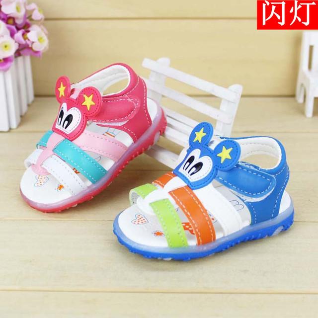 2016 Chegada Nova Verão Meninas Bonitos Do Bebê Sandálias Menino Sorriso Olhos Crianças Crianças Sapato Sapatos Criança crianças verão