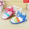 2016 Nueva Llegada del Verano de los Bebés Lindos Ojos Sonrisa Niños Niños Zapatos Sandalias Del Muchacho Niño niños Zapatos de verano