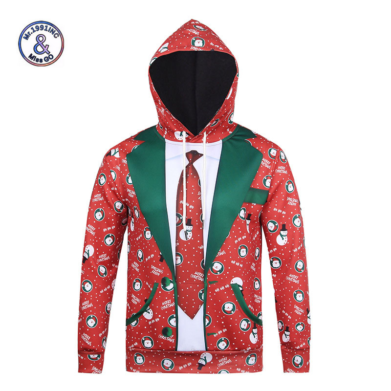 Mr.1991INC New Fashion Hooded christmas 3d Hoodies Men/Women Autumn Winter Tops Thin Style Paint 3d Sweatshirts Unisex Pullovers