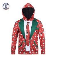 Mr 1991INC New Fashion Hooded Hoodies Men Women Autumn Winter Thin Style Christmas Paint 3d Sweatshirts