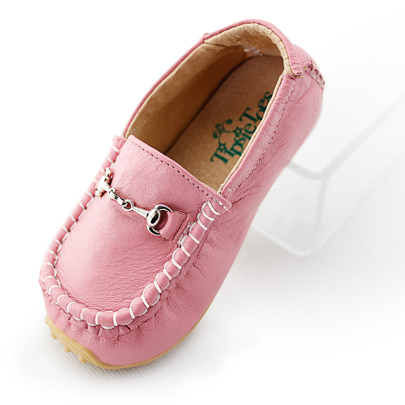 TipsietoesBoys Girls Shoes Slip-on Loafers Leather Flats Soft Kids Baby First Walkers Mocassin  Children Toddler Sneaker