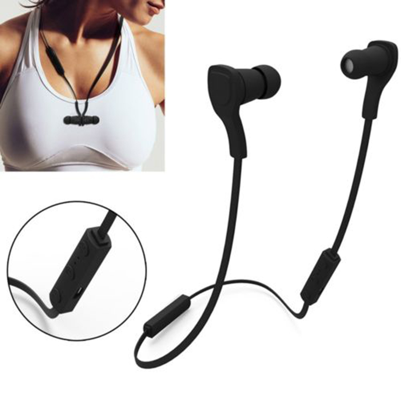 Sport Bluetooth Earphones Wireless Stereo Headset with Micphone Noise cancelling Handsfree Earphone for Man Women Phone Computer magnetic switch bluetooth wireless sport earphone sweatproof stereo noise cancelling headset for huawei honor 6c 6x 6a v9