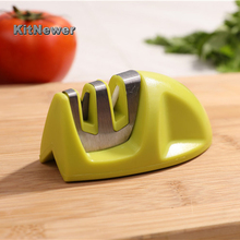 New Portable Kitchen Knife Sharpener Two Stages Diamond/Ceramic Household Stainless Steel Sharpening Tools For Knives