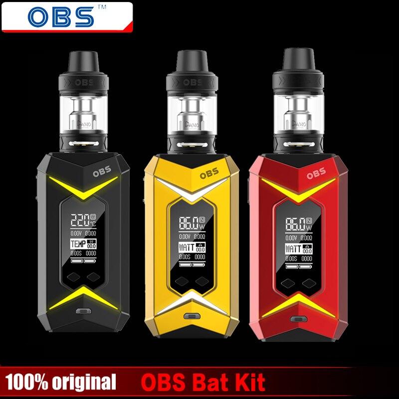 Оригинальный OBS Bat комплект с 5 мл Дамо бак subohm и 218 Вт летучая мышь поле Mod E-cig Vape OBS Bat комплект без 18650 батарея поле Mod
