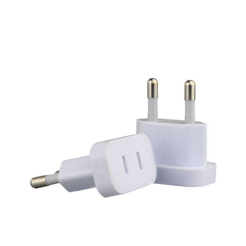 5PCS <font><b>CN</b></font> US <font><b>To</b></font> <font><b>EU</b></font> Euro Europe <font><b>Plug</b></font> Adapter 2 Round Socket Converter Travel Electrical Power Adapter Socket China <font><b>To</b></font> <font><b>EU</b></font> <font><b>Plug</b></font> image