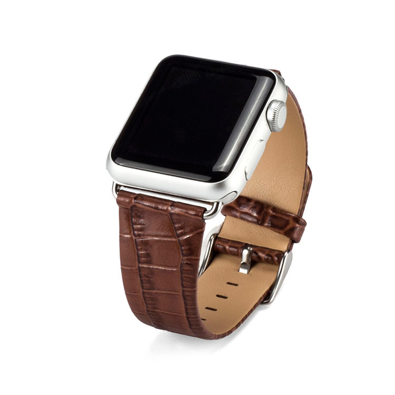 Men&women Genuine Leather watch Strap Brown 38mm 42mm Watch Band For Apple Iwatch