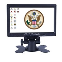 7 Inch VGA Monitor TFT LCD Color Car Monitor 2 Video Input PC Audio Video Display