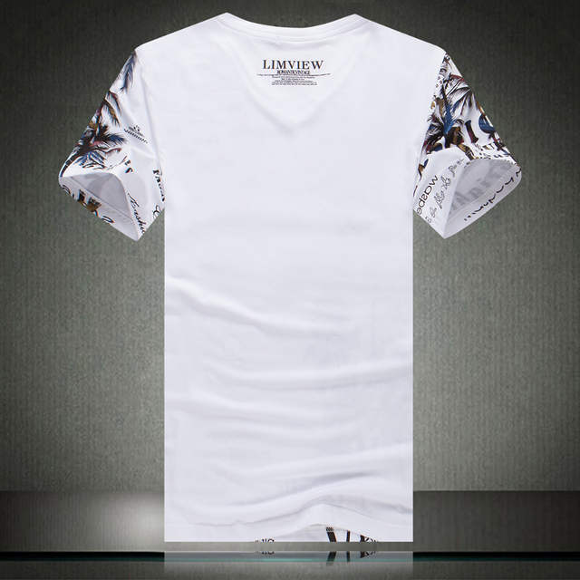005aa5822 placeholder Summer Men s T-shirt New Fashion Coconut Island Printing T  Shirt Men V Neck Short