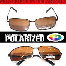 862ba29d94d Brown Custom Made Nearsighted Minus Prescription Black Frame Green Lens  Double Beam Polarized -1 -