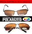 Brown Custom Made Nearsighted Minus Prescription Black Frame Green Lens Double Beam Polarized -1 -1.5 -2 -2.5 -3 -3.5 -4 -5 -6