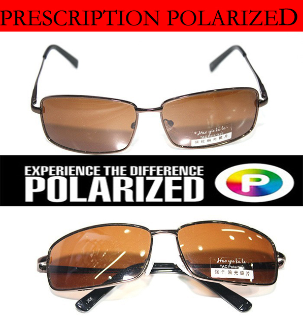 Brown Custom Made Nearsighted Minus Prescription Black Frame Green Lens Double Beam Polarized -1 -1.5 -2 -2.5 -3 -3.5 -4 -5 -6