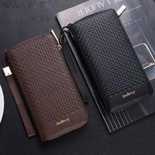 Twist embossed Multi card bit Business Casual phone zipper men long wallet coin pocket PU leather purse high quality 2019 clutch недорого