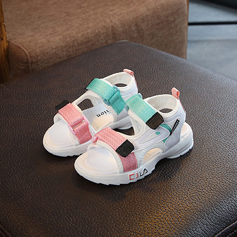 Summer toddler white sandals girls leather shoes 2020 fashion toddler boys beach sandals colorful children baby shoes kids sandals for boys