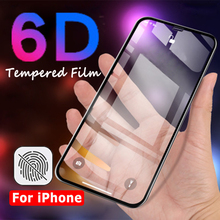 6D Curved Edge Tempered Glass Fit For iPhone 6 6s Plus 7 8 Full Cover Screen Protector for X Protection