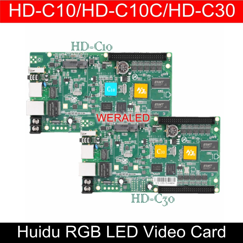WERALED First Choice Huidu Asynchronization HD-C10/HD-C10C/HD-C30 Full Color LED Video Card ,Can add wireless WIFI/3G/4G modular