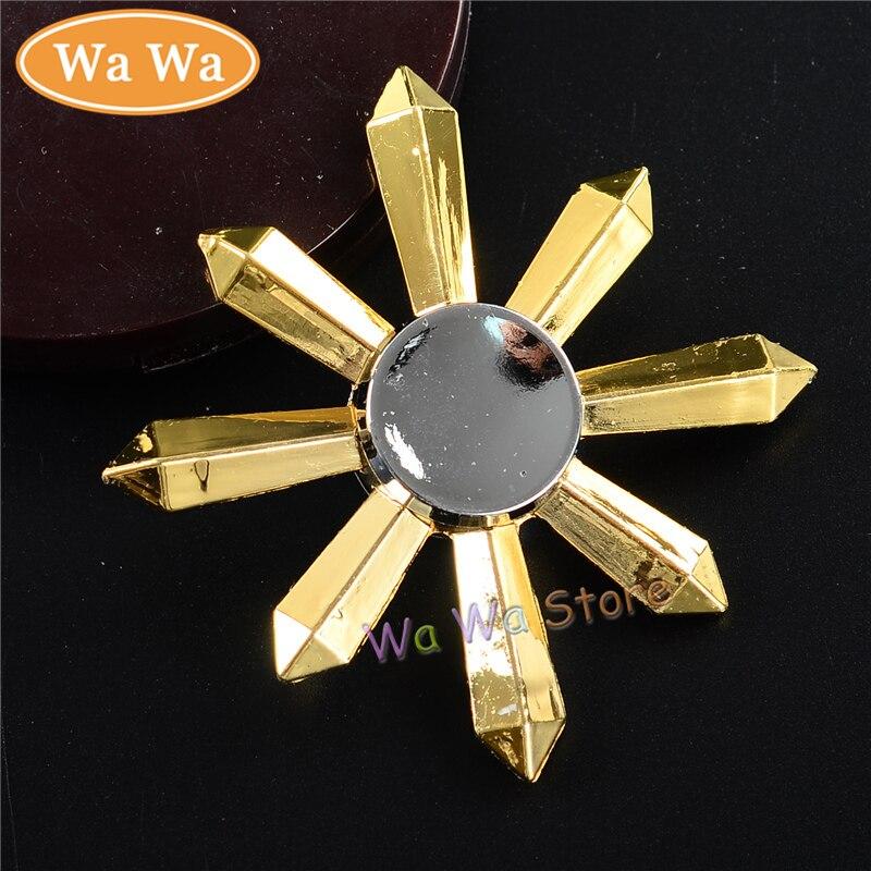 2 Colors 1 Pcs EDC Tri Spinner Fidget Toys Pattern Hand Spinner Metal Fidget Spinner and