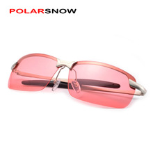 POLARSNOW Red Lens Night Glasses Top Quality Night Vision Driving Eyewear Men Sunglasses 2017 Oculos Masculino