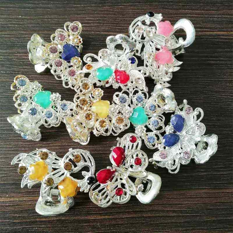 TB1023 mariposa Vintage India pequeñas pinzas para el cabello Clip lindo corazón cristal boda novia accesorios para el cabello joyería para la cabeza