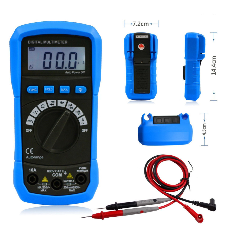 Electrical Frequency Tester : Aimo adm auto ranging digital multimeter dmm dc ac