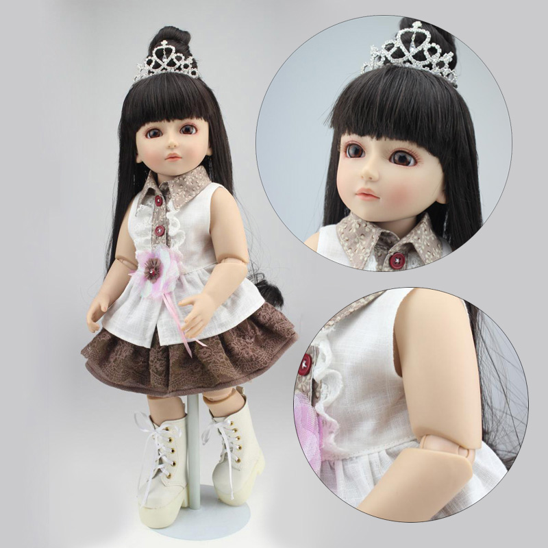 NPK COLLECTION BJD Series Doll Reborn Babies Girl Full Vinyl Ball Jointed Dolls Real Handmade Realistic Baby Long Hair Princess 31cm han dynasty bride doll action toy figures 12 jointed handmade chinese ancient costume bjd dolls girls christmas gift