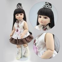 NPK COLLECTION BJD Series Doll Reborn Babies Girl Full Vinyl Ball Jointed Dolls Real Handmade Realistic Baby Long Hair Princess