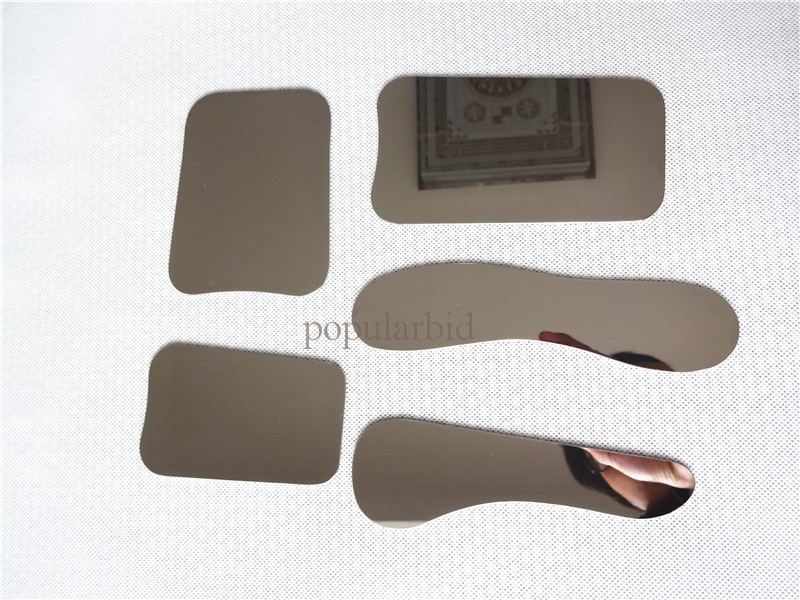 5PCS Dental Oral Clinic Stainless Steel Photographic Mirror Reflector