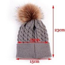 1 pcs Cute Boys Girls Winter Warm Hat Fur Ball Pom Pom Cap Kids Winter Knitted Wool Hats Caps for Boys Beanies nouveau ne