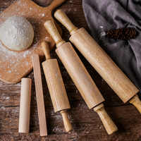 Professional Rolling Pin, Rubber Wooden Pastry Dough Roller, 3 Different Size