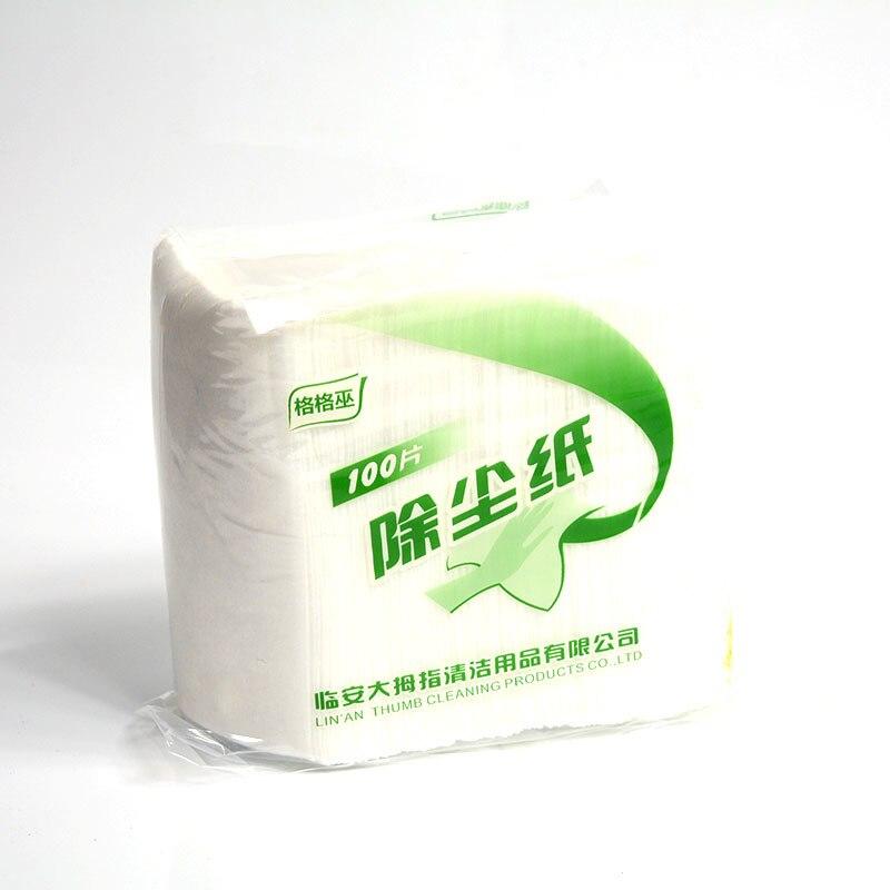 100 ピース/セット家庭用交換モップヘッド布使い捨て除塵モップ紙キッチン浴室クリーニング布 -