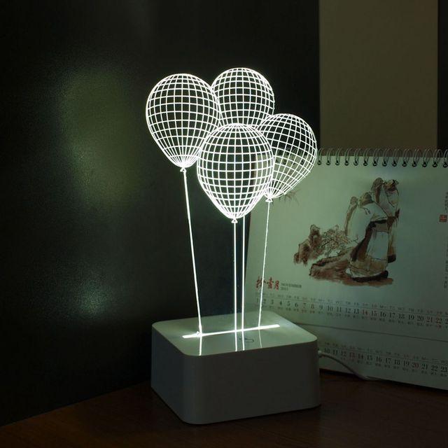 Cnhidee novela Lampara Infantil 3d mesa globo de luz para dormitorio ...